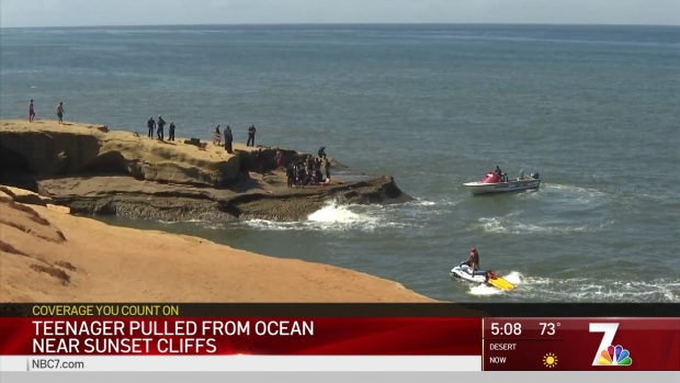 Teenager Pulled From Ocean Near Sunset Cliffs