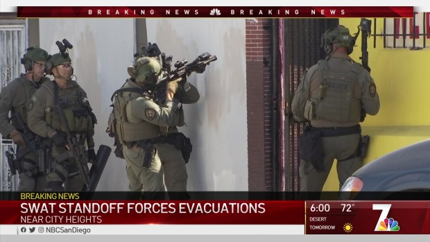 SWAT Standoff Near City Heights