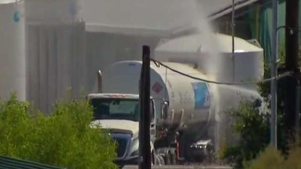 Images: Schools Evacuated Due to Fire on Hydrogen-Filled Tanker Truck