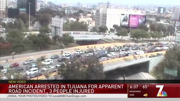 American Arrested in Apparent Road Rage in Tijuana