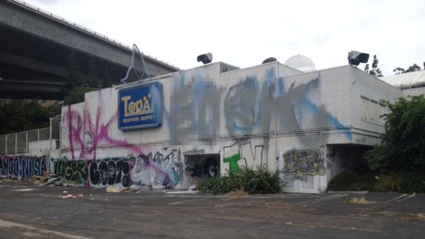 [G] Graffiti, Trash Plague Empty Restaurant