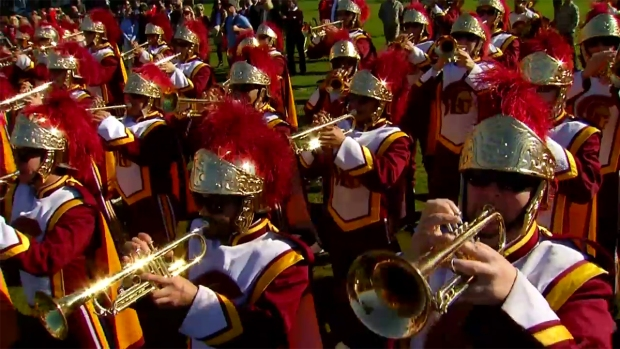 USC Trojan Band Plays 'Tusk'