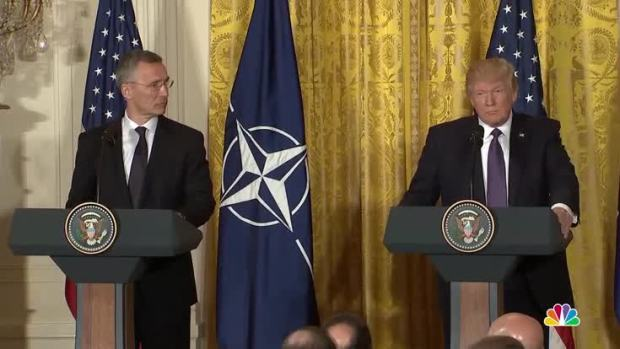 [NATL] Trump Praises NATO, Pledges Support in First WH Meeting