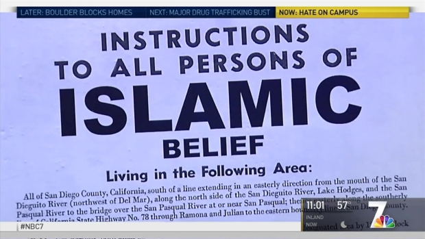 [DGO] Posters on UCSD Campus Suggest Muslim Internment
