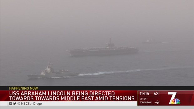 USS Abraham Lincoln Directed Towards Middle East