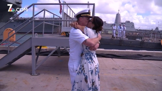 Families Rejoice as USS Spruance Returns Home