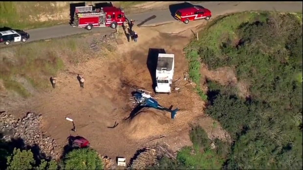 1 Hurt in Helicopter Crash in Valley Center