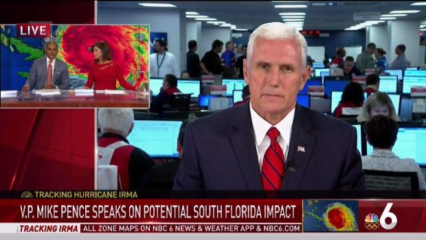 [NATL-MI] VP Mike Pence Discusses Hurricane Irma With NBC 6