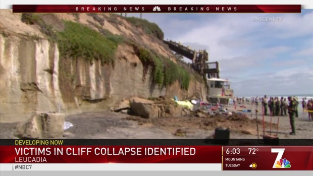 Vicitms Identified in Deadly Cliff Collapse