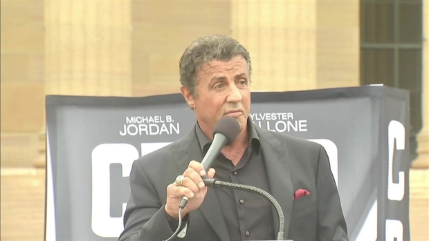 Stallone Uses 'Rocky' Steps to Inspire