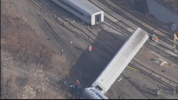 [NY] Chopper: Metro-North Train Derailment