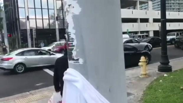 [NATL-MI] RAW VIDEO: Hit-and-Run Crash in Downtown Miami