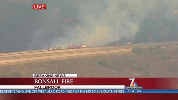 [DGO] Fire in Fallbrook, Bonsall Threatens Homes