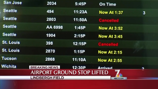 Flights Resume After Bankers Hill Standoff