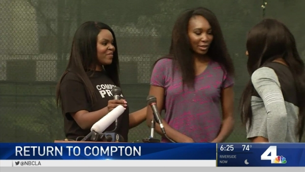 Williams Sisters Return to Compton