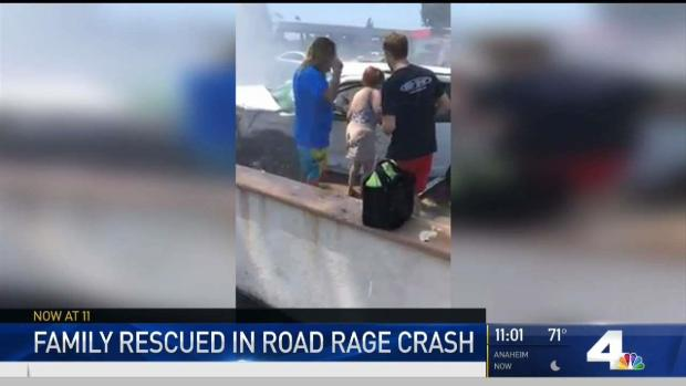 [NATL-LA] Woman Saves Family Caught in Road Rage Crash