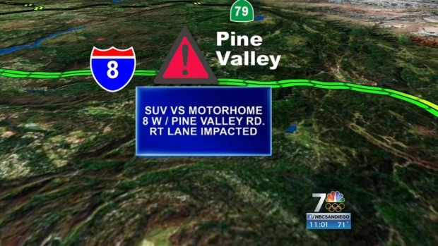 [DGO] Two Vehicle Accident Slows Traffic in Pine Valley