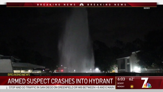 [DGO] Police Search for Driver Who Crashed Into Hydrant, Several Vehicles