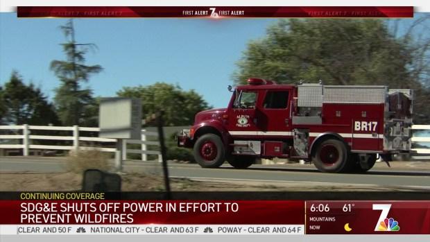 [DGO] SDG&E Shuts Off Power in Fire Prevention Effort