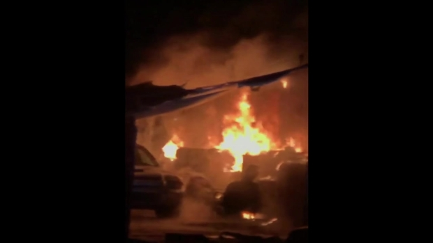 [DGO] Fire at Grantville Auto Shop Damages Several Cars