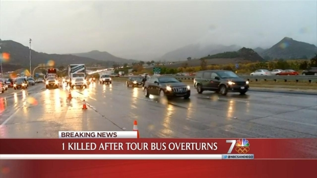 [DGO] Bus Crash Kills 1 Near Fallbrook