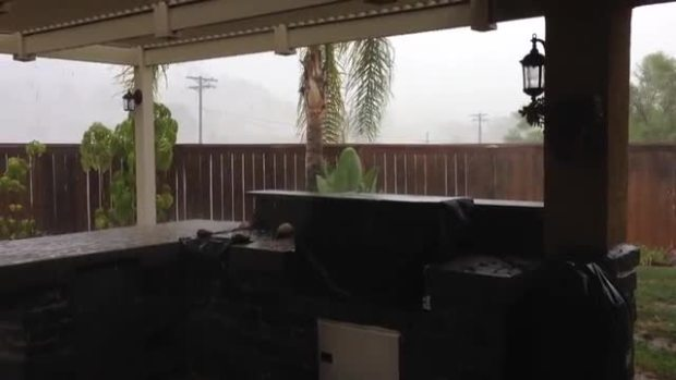 "RAW VIDEO: ""Crazy"" Rain Video from NBC 7 Viewer"