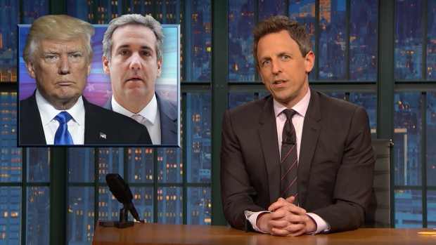 [NATL] 'Late Night': A Closer Look at Trump's Reaction to Michael Cohen Raid