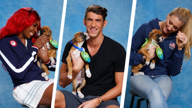 [NATL] Olympic Athletes Play With Pups Ahead of the 2016 Rio Games