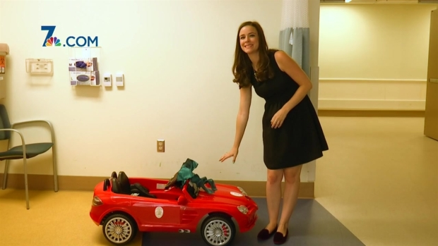 Hospital let's kids 'drive' themselves to operating room