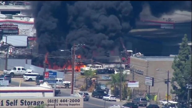 [DGO] El Cajon Fire at Recycling Center