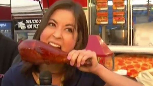 [DGO] TV Reporter Chows Down at San Diego County Fair