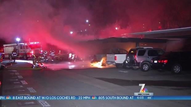 [DGO] Fire Destroys 3 Cars at Escondido Apt Complex