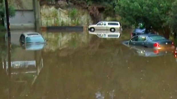 Rain Floods Garage in Mission Hills