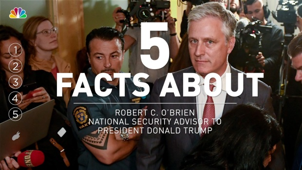[NATL] 5 Facts About National Security Advisor Robert C. O'Brien