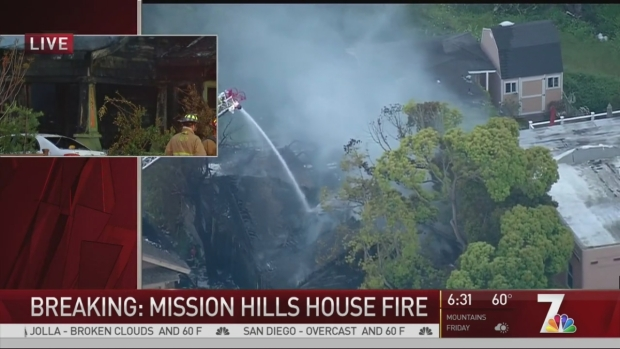 [DGO] 2 Women Unaccounted for in Mission Hills House Fire: SDFD