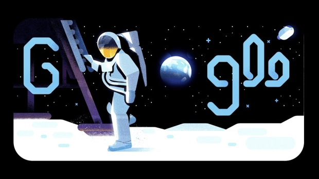 Top Google Doodles: Mike Collins Narrates the Moon Landing