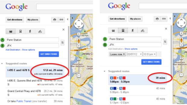Google Maps Adds Real-Time Traffic