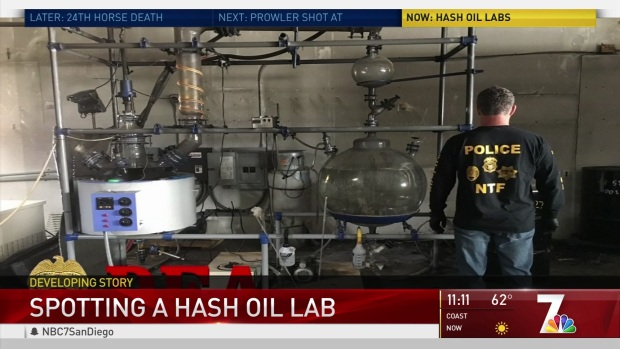 Four Hash Oil Labs Discovered in May