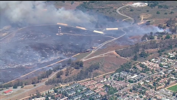[DGO] Fire Burns at Camp Pendleton