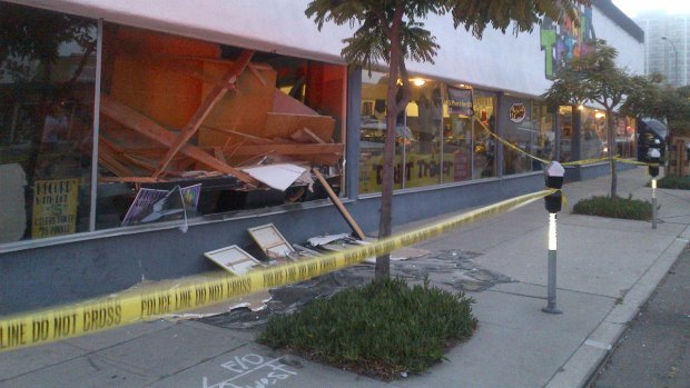 Thrift Trader Damaged in Floor Collapse