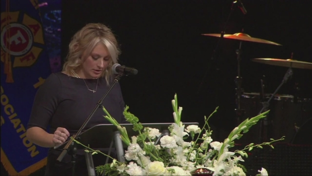 [DGO] Widow of Fallen Firefighter Speaks at Memorial