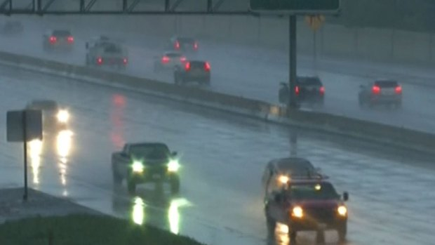 Slick Roads Greet Friday Commuters