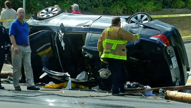 Cars Overturn in La Jolla Crash