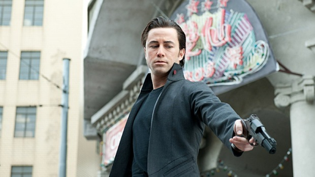 """Looper"" Pics Show Joseph Gordon-Levitt With Bruce Willis' Chin"