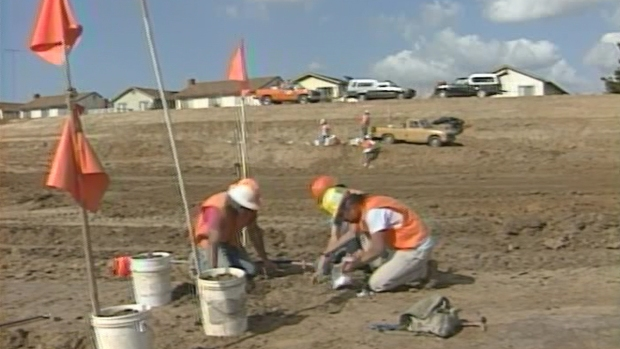 NBC 7 Archive Images of 1992 Site Mastodon Discovery