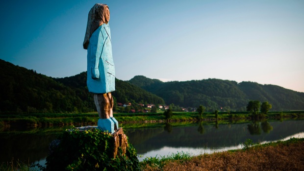 Melania Trump Statue Unveiled in Her Native Slovenia