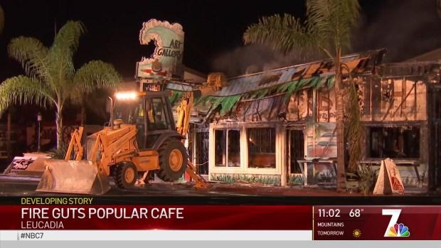 [DGO] Popular Leucadia Cafe Burned to Rubble
