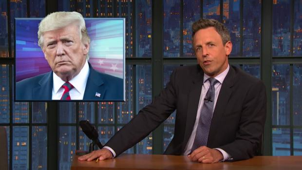 [NATL] 'Late Night': A Closer Look at Trump Threatening Iran