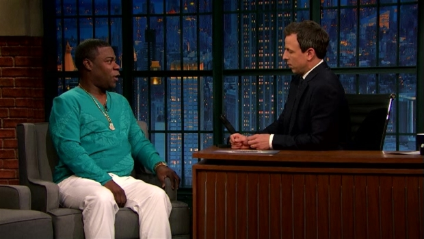 [NATL] 'Late Night': Tracy Morgan's Gift for Meyers' New Baby