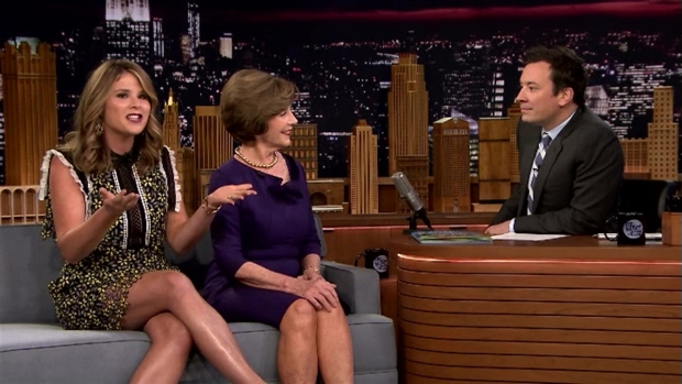 [NATL] 'Tonight Show':  Laura Bush and Jenna Bush Hager on George W. Bush's Painting